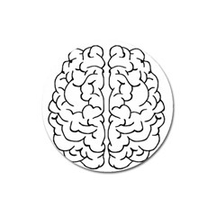 Brain Mind Gray Matter Thought Magnet 3  (round)