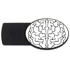 Brain Mind Gray Matter Thought Usb Flash Drive Oval (2 Gb) by Nexatart
