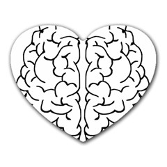 Brain Mind Gray Matter Thought Heart Mousepads by Nexatart