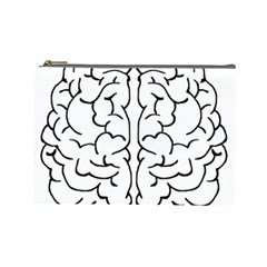 Brain Mind Gray Matter Thought Cosmetic Bag (large)  by Nexatart