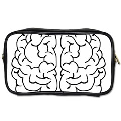 Brain Mind Gray Matter Thought Toiletries Bags 2 Side by Nexatart