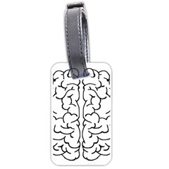 Brain Mind Gray Matter Thought Luggage Tags (two Sides) by Nexatart
