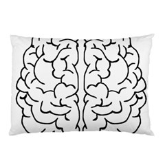 Brain Mind Gray Matter Thought Pillow Case (two Sides) by Nexatart