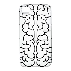Brain Mind Gray Matter Thought Apple Iphone 4/4s Hardshell Case With Stand by Nexatart