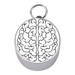 Brain Mind Gray Matter Thought Mini Silver Compasses