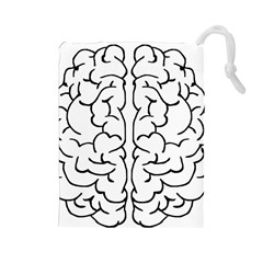 Brain Mind Gray Matter Thought Drawstring Pouches (large)