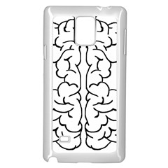 Brain Mind Gray Matter Thought Samsung Galaxy Note 4 Case (white)
