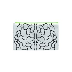 Brain Mind Gray Matter Thought Cosmetic Bag (xs)