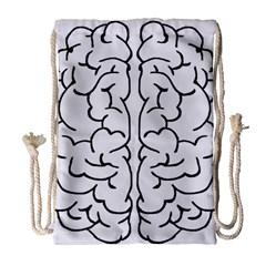 Brain Mind Gray Matter Thought Drawstring Bag (large)