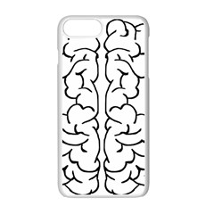 Brain Mind Gray Matter Thought Apple Iphone 7 Plus White Seamless Case by Nexatart