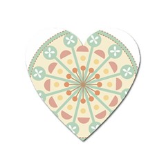 Blue Circle Ornaments Heart Magnet by Nexatart