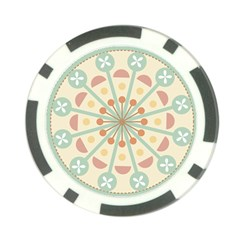 Blue Circle Ornaments Poker Chip Card Guard by Nexatart