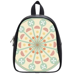 Blue Circle Ornaments School Bags (small)  by Nexatart