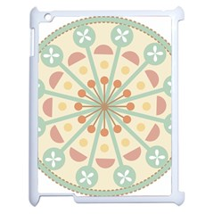Blue Circle Ornaments Apple Ipad 2 Case (white)