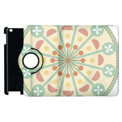 Blue Circle Ornaments Apple Ipad 2 Flip 360 Case by Nexatart