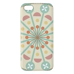 Blue Circle Ornaments Iphone 5s/ Se Premium Hardshell Case by Nexatart