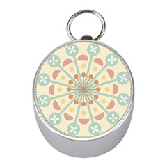 Blue Circle Ornaments Mini Silver Compasses by Nexatart