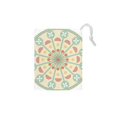 Blue Circle Ornaments Drawstring Pouches (xs)