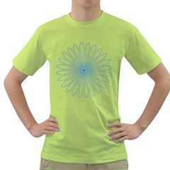 Spirograph Pattern Circle Design Green T Shirt