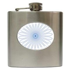 Spirograph Pattern Circle Design Hip Flask (6 Oz)