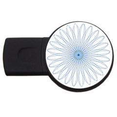 Spirograph Pattern Circle Design Usb Flash Drive Round (2 Gb) by Nexatart