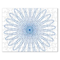 Spirograph Pattern Circle Design Rectangular Jigsaw Puzzl
