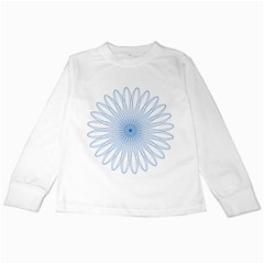 Spirograph Pattern Circle Design Kids Long Sleeve T Shirts by Nexatart
