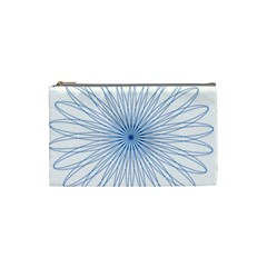 Spirograph Pattern Circle Design Cosmetic Bag (small)  by Nexatart