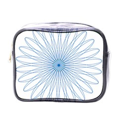 Spirograph Pattern Circle Design Mini Toiletries Bags by Nexatart