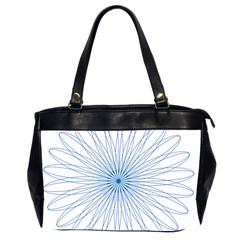 Spirograph Pattern Circle Design Office Handbags (2 Sides)  by Nexatart