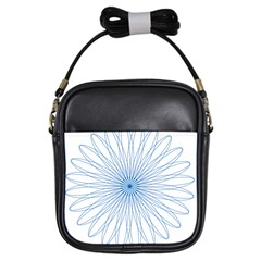 Spirograph Pattern Circle Design Girls Sling Bags by Nexatart