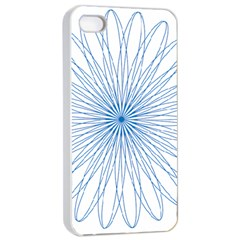 Spirograph Pattern Circle Design Apple Iphone 4/4s Seamless Case (white)