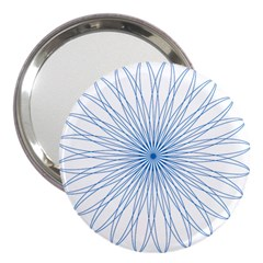 Spirograph Pattern Circle Design 3  Handbag Mirrors