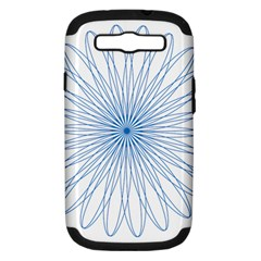 Spirograph Pattern Circle Design Samsung Galaxy S Iii Hardshell Case (pc+silicone) by Nexatart