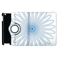 Spirograph Pattern Circle Design Apple Ipad 3/4 Flip 360 Case by Nexatart