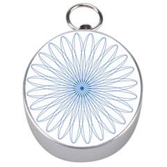 Spirograph Pattern Circle Design Silver Compasses by Nexatart