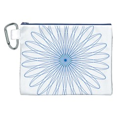 Spirograph Pattern Circle Design Canvas Cosmetic Bag (xxl) by Nexatart