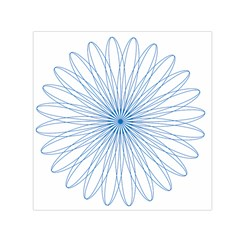 Spirograph Pattern Circle Design Small Satin Scarf (square) by Nexatart