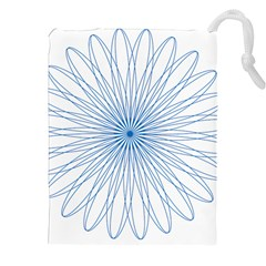 Spirograph Pattern Circle Design Drawstring Pouches (xxl) by Nexatart