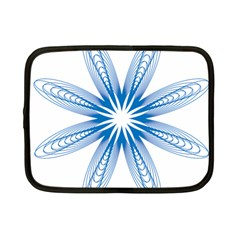 Blue Spirograph Pattern Circle Geometric Netbook Case (small)  by Nexatart