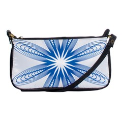 Blue Spirograph Pattern Circle Geometric Shoulder Clutch Bags
