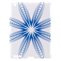 Blue Spirograph Pattern Circle Geometric Apple Ipad 3/4 Hardshell Case (compatible With Smart Cover) by Nexatart
