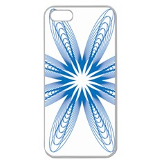 Blue Spirograph Pattern Circle Geometric Apple Seamless Iphone 5 Case (clear) by Nexatart