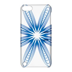 Blue Spirograph Pattern Circle Geometric Apple Ipod Touch 5 Hardshell Case With Stand