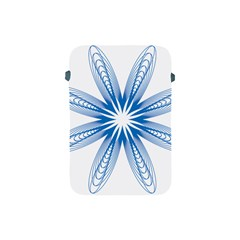 Blue Spirograph Pattern Circle Geometric Apple Ipad Mini Protective Soft Cases