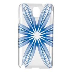 Blue Spirograph Pattern Circle Geometric Samsung Galaxy Note 3 N9005 Hardshell Case
