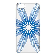 Blue Spirograph Pattern Circle Geometric Apple Iphone 5c Hardshell Case by Nexatart