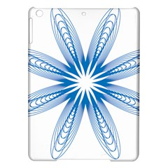 Blue Spirograph Pattern Circle Geometric Ipad Air Hardshell Cases by Nexatart