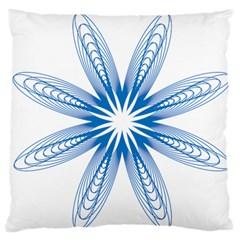 Blue Spirograph Pattern Circle Geometric Standard Flano Cushion Case (one Side)