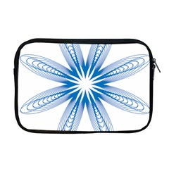 Blue Spirograph Pattern Circle Geometric Apple Macbook Pro 17  Zipper Case by Nexatart